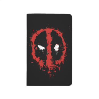 Deadpool Paint Splatter Logo Journal