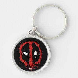 Deadpool Paint Splatter Logo Keychain
