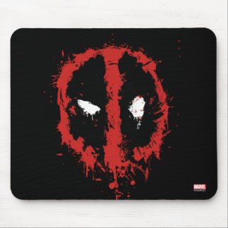 Deadpool Paint Splatter Logo Mouse Pad