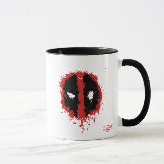Deadpool Paint Splatter Logo Mug
