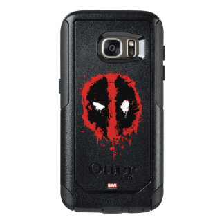 Deadpool Paint Splatter Logo OtterBox Samsung Galaxy S7 Case