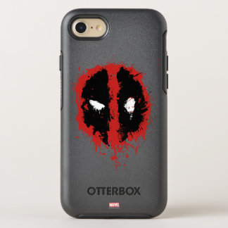 Deadpool Paint Splatter Logo OtterBox Symmetry iPhone 7 Case