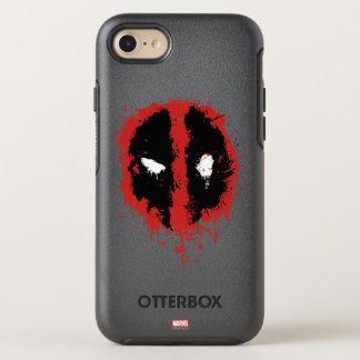Deadpool Paint Splatter Logo OtterBox Symmetry iPhone 8/7 Case