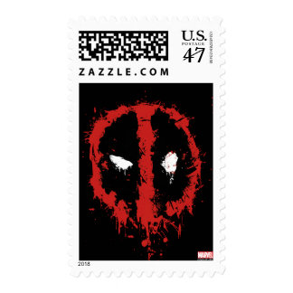 Deadpool Paint Splatter Logo Postage