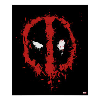 Deadpool Paint Splatter Logo Poster