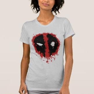 Deadpool Paint Splatter Logo T Shirt