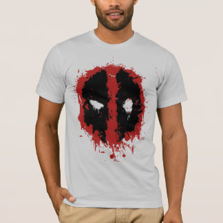 Deadpool Paint Splatter Logo T-Shirt