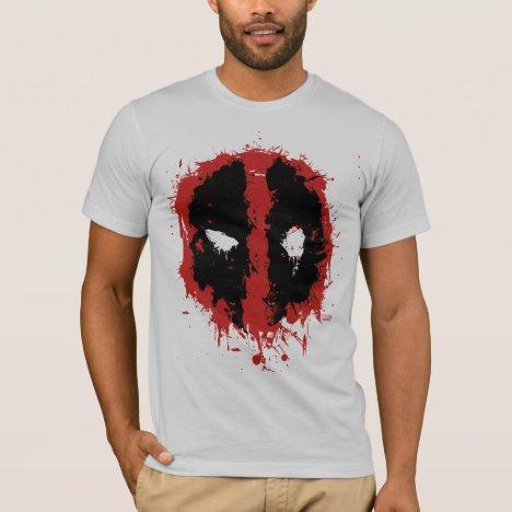 Deadpool Paint Splatter Logo T-Shirt