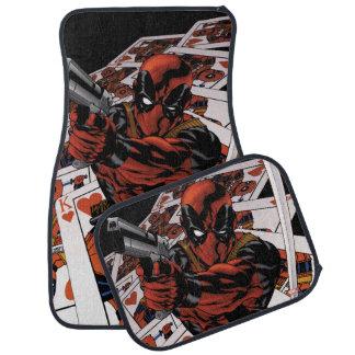 Deadpool Playing Cards Car Floor Mat