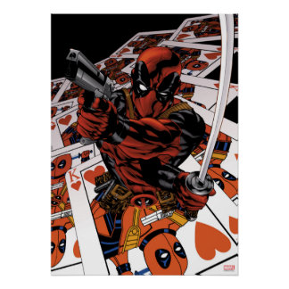 Deadpool Playing Cards Poster