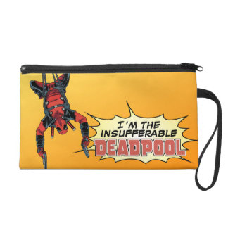 Deadpool que cuelga del arnés