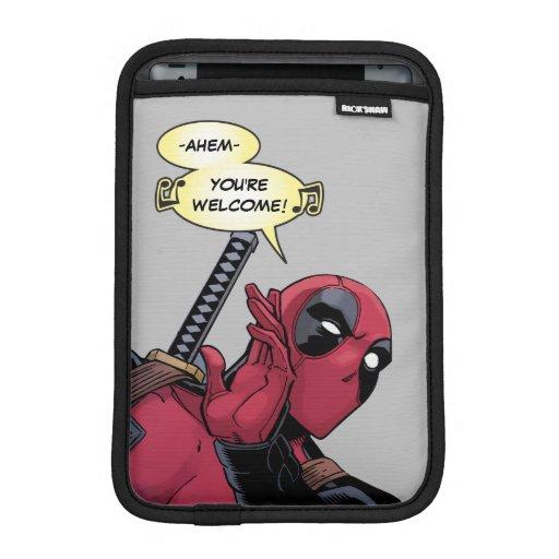 Deadpool Side Comment iPad Mini Sleeve