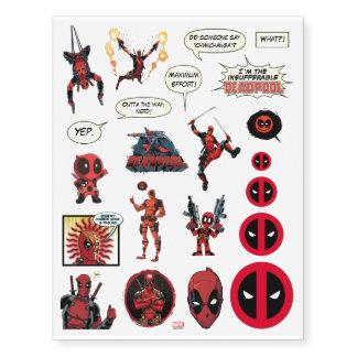 Deadpool Temporary Tattoos