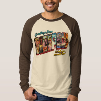 Deadpool Vacation Postcard T-Shirt