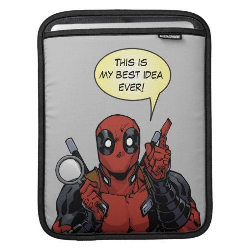 Deadpool With A Magnifying Glass iPad Sleeve