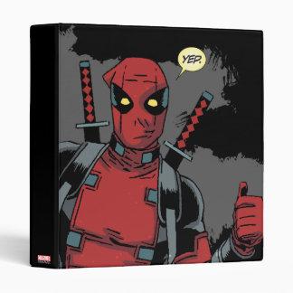 Deadpool Yep 3 Ring Binder