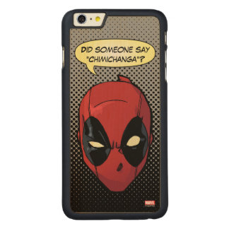 Deadpool's Head Carved Maple iPhone 6 Plus Slim Case