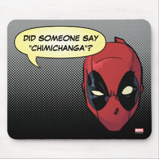 Deadpool's Head Mouse Pad