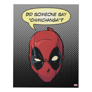 Deadpool's Head Panel Wall Art