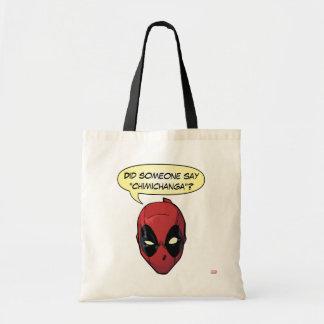 Deadpool's Head Tote Bag