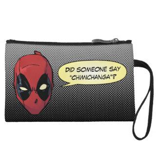 Deadpool's Head Wristlet Wallet
