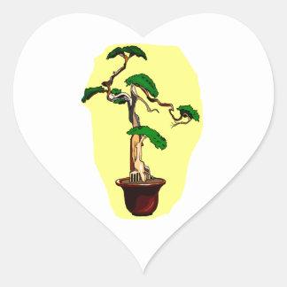 Deadwood Bonsai Shari Tall Heart Sticker