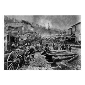 DEADWOOD DAKOTA DEL SUR en 1876 Impresiones