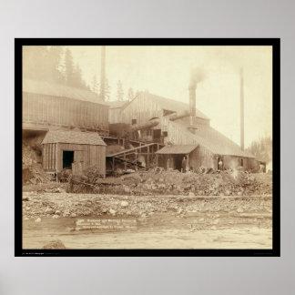Deadwood & Delaware Smelter SD 1891 Poster