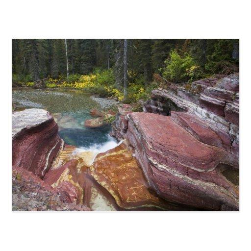 Deadwood Falls on Reynolds Creek in autumn in Postcards