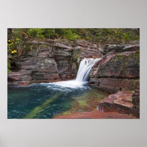 Deadwood Falls on Reynolds Creek in autumn in Poster