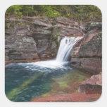 Deadwood Falls on Reynolds Creek in autumn in Square Sticker
