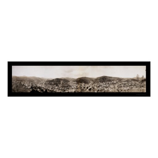 Deadwood, foto 1909 de Dakota del Sur Póster