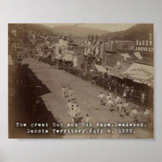 Deadwood Hub and Hub Race 1888 Poster