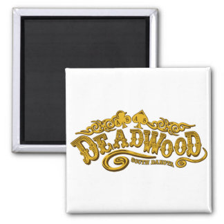 Deadwood Saloon 2 Inch Square Magnet