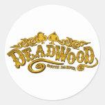 Deadwood Saloon Round Stickers