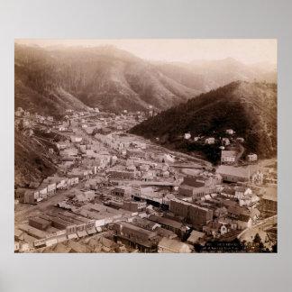 DEADWOOD SOUTH DAKOTA 1888 - NO. 4 POSTER