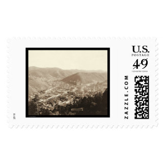 Deadwood View from Forest Hill SD 1888 Stamp