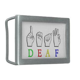 DEAF ASL FINGER SPELLED BELT BUCKLES