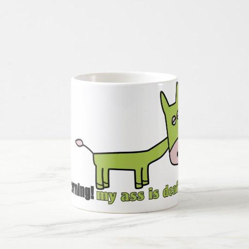 deaf ass coffee mug