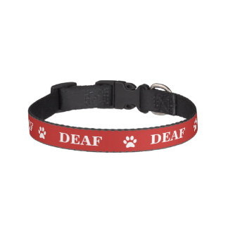 """DEAF"" Awareness Pet Collar"