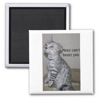 Deaf Cat Magnet