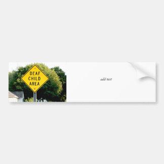 Deaf Child Area Bumper Stickers