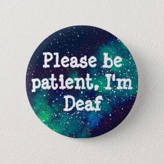 Deaf Customizable Galaxy Identity Pinback Button