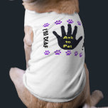 """Deaf Dog - Ask to Pet - Purple Paws Shirt<br><div class=""""desc"""">Special designs for special friends. Bold design lets people know that your pet has special needs and should be respected. Customizable for Blind Dogs. Purple paw motif.</div>"""