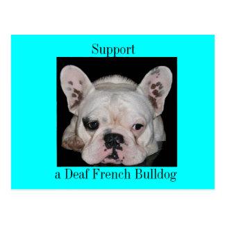 Deaf Frenchie support Postcard