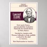 "Deaf History. Laurent Clerc. (ASL) Poster<br><div class=""desc"">for the classroom</div>"