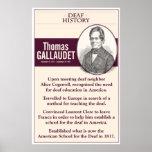 "Deaf History. Thomas Gallaudet. Poster<br><div class=""desc"">a classroom poster</div>"