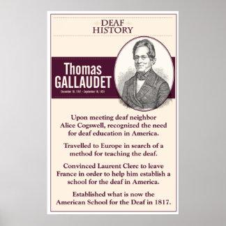 Deaf History Thomas Gallaudet Poster