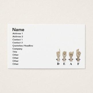 Deaf in Ameslan Business Card
