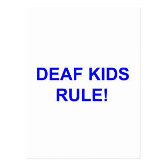 DEAF KID RULE POSTCARD